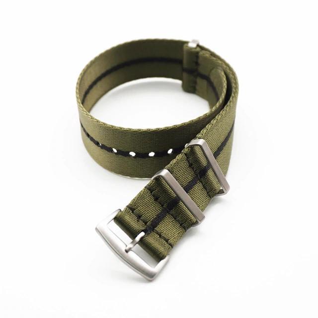 Premium NATO Strap Leger Groen / Zwart