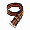 Premium NATO Strap Zwart / Oranje