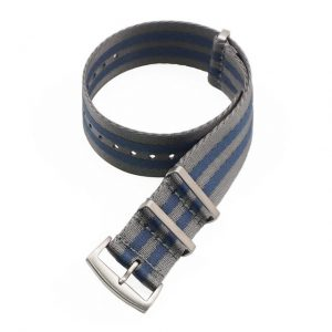 Premium NATO Strap Horlogeband Grijs / Blauw