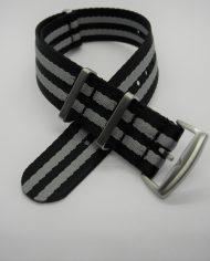 Premium NATO strap grijs zwart (1)