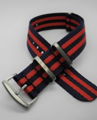 Premium NATO strap rood blauw (1)