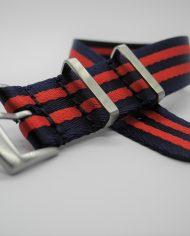 Premium NATO strap rood blauw (2)